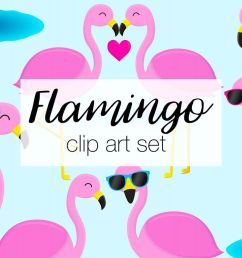 flamingo clipart illustrations example image 1 [ 1200 x 800 Pixel ]
