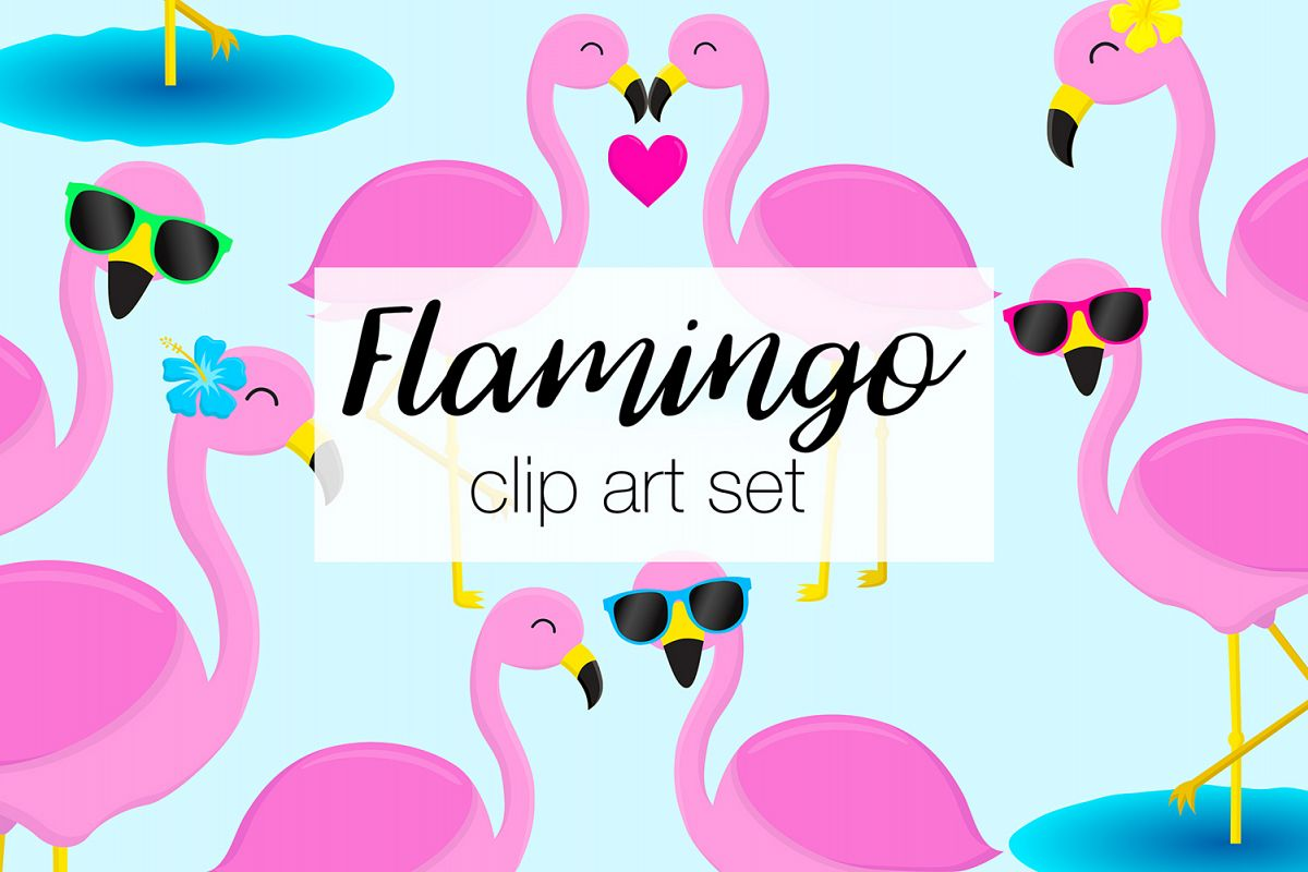 hight resolution of flamingo clipart illustrations example image 1