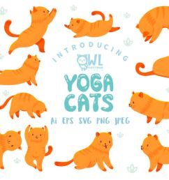 yoga cats clipart collection example image 1 [ 1200 x 800 Pixel ]