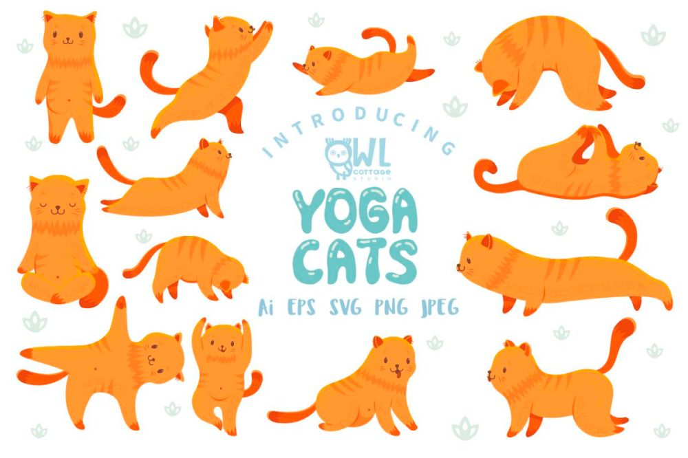 medium resolution of yoga cats clipart collection example image 1