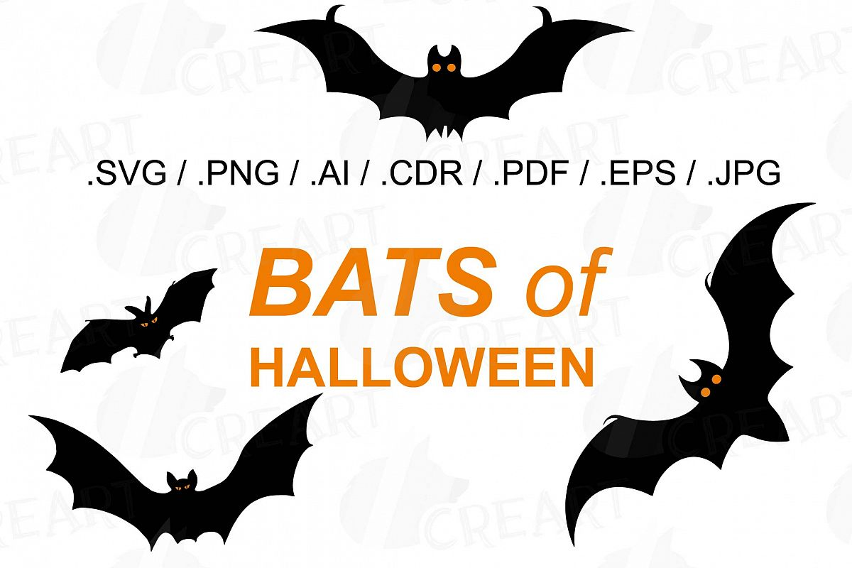 hight resolution of halloween bats silhouettes clip art halloween party vectors example image 1