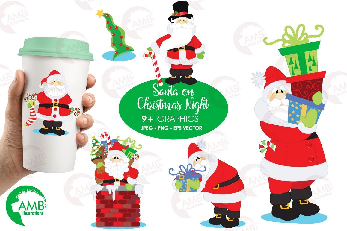 hight resolution of santa claus clipart graphics illustrations amb 506 example image 1