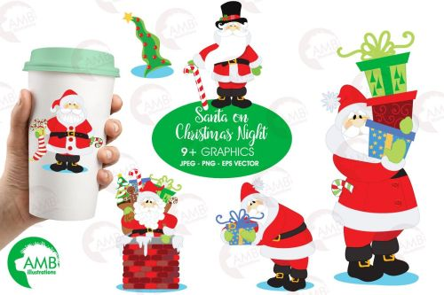 small resolution of santa claus clipart graphics illustrations amb 506 example image 1
