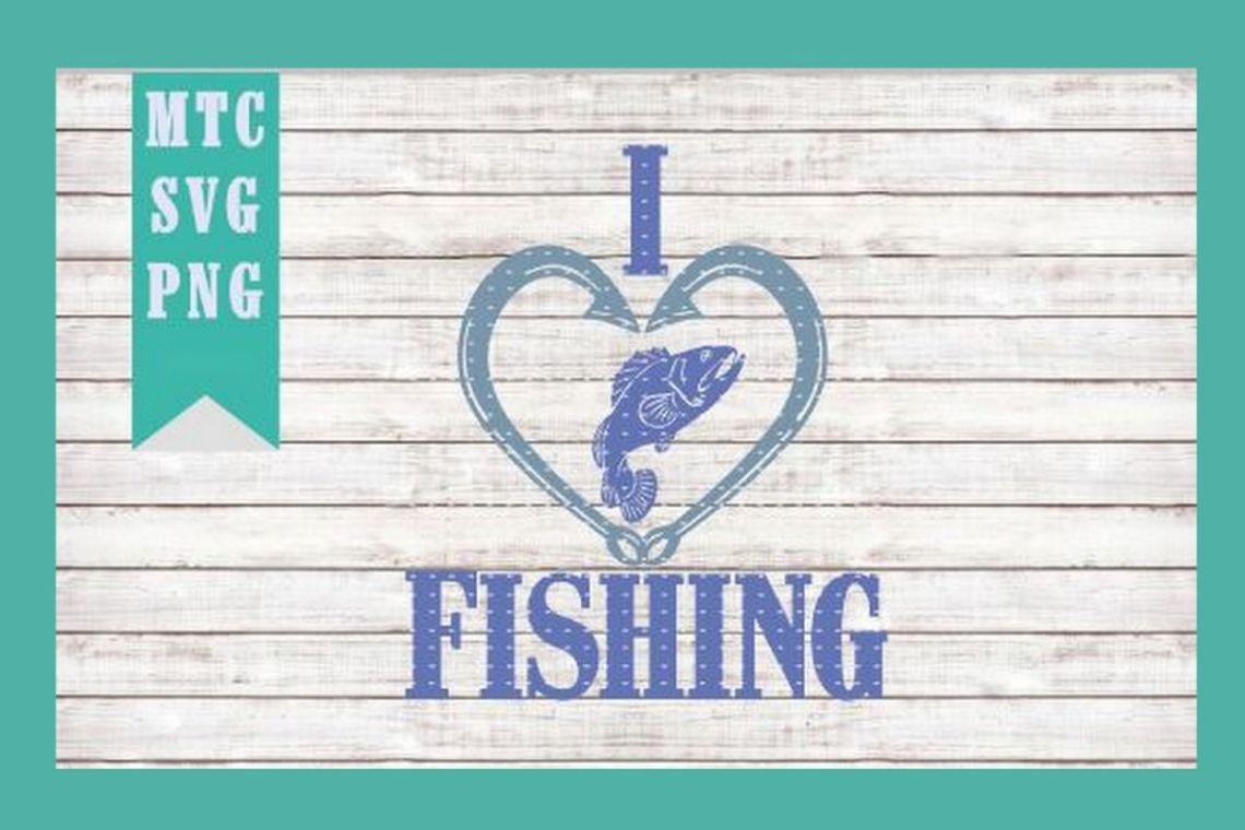 Download I Love Fishing Design # 02 SVG Cut File