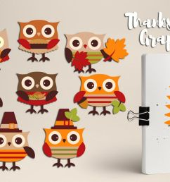 cute owl thanksgiving clipart graphics example image 1 [ 1200 x 800 Pixel ]