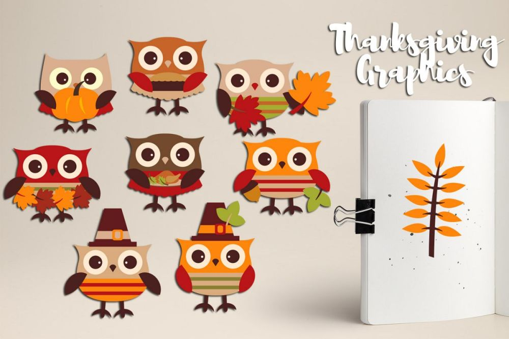 medium resolution of cute owl thanksgiving clipart graphics example image 1