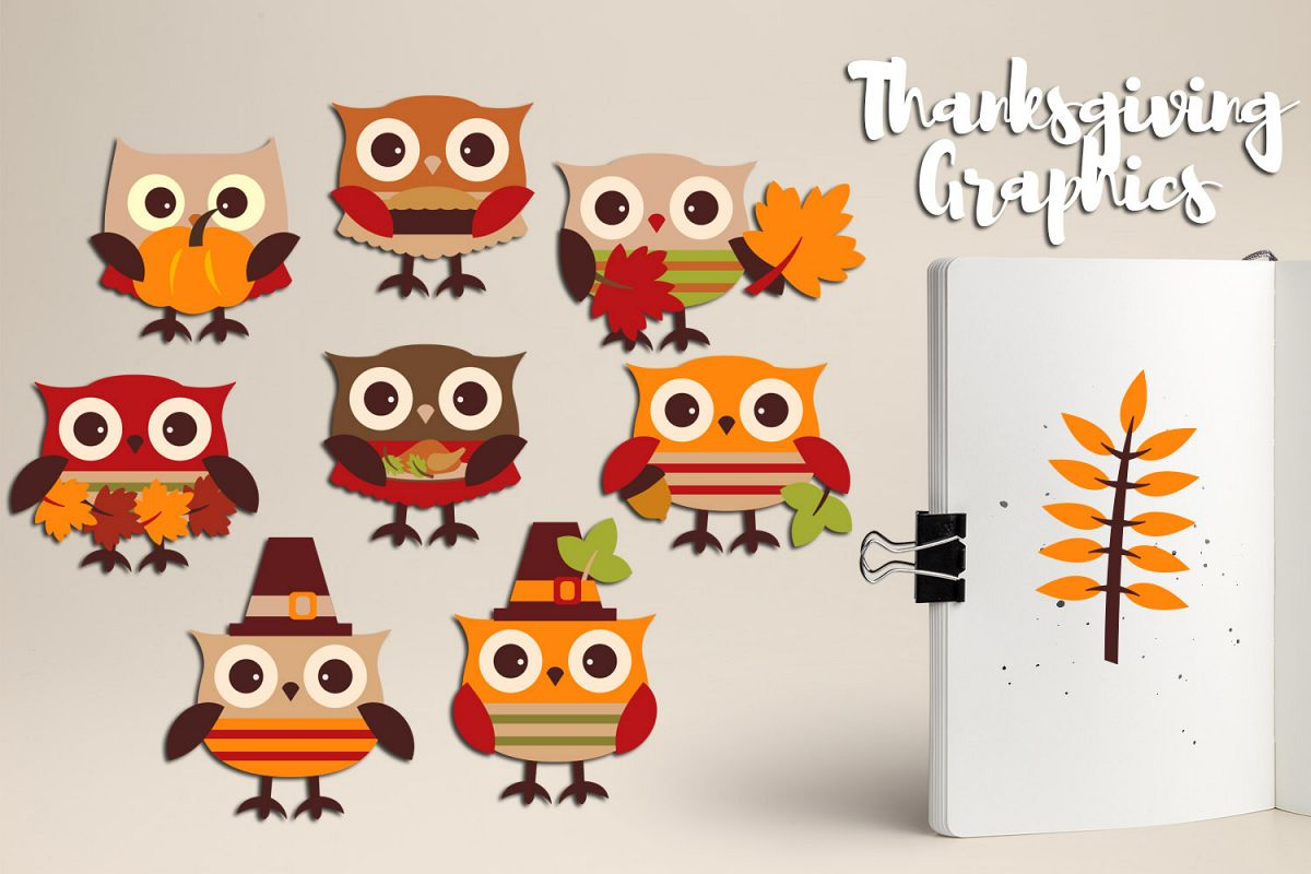 hight resolution of cute owl thanksgiving clipart graphics example image 1