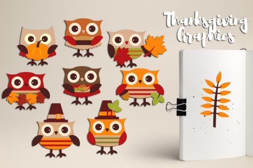 small resolution of cute owl thanksgiving clipart graphics example image 1
