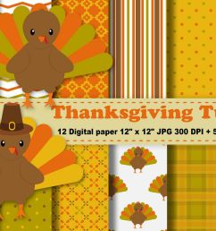 thanksgiving digital paper thanksgiving turkey background fall pattern autumn printables scrapbook papers [ 1200 x 800 Pixel ]