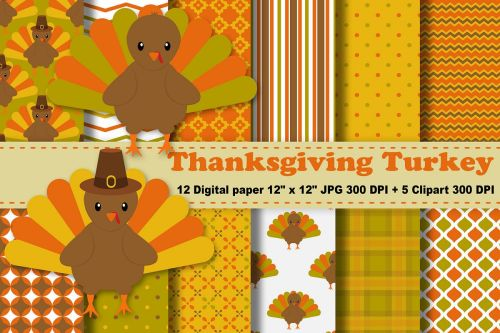 small resolution of thanksgiving digital paper thanksgiving turkey background fall pattern autumn printables scrapbook papers