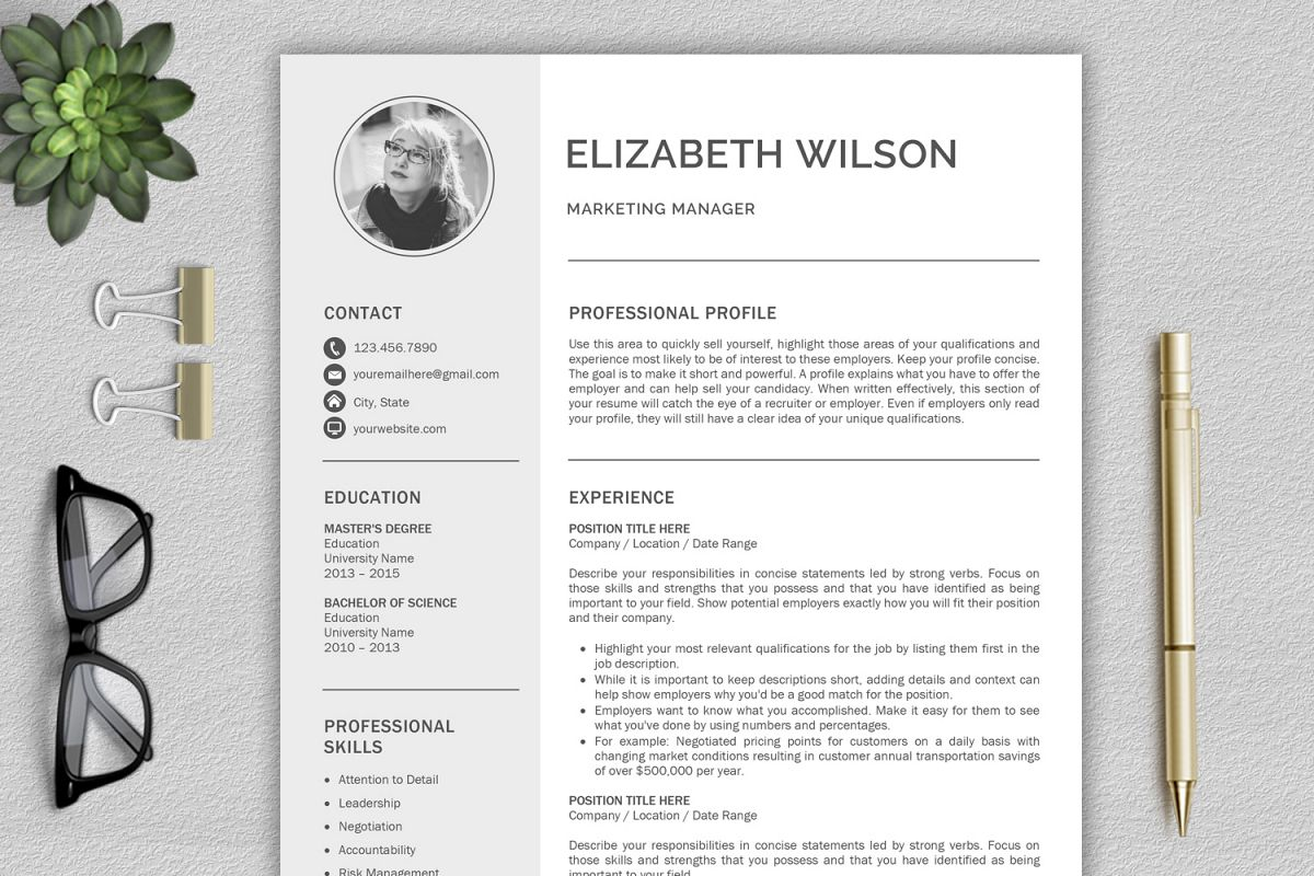 Template Of A Resume Creative Resume Template Cv Template Resume Template Word