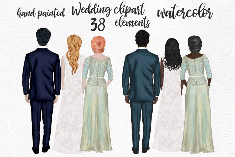 medium resolution of wedding clipart wedding dress mother of the bride clipart example image 1