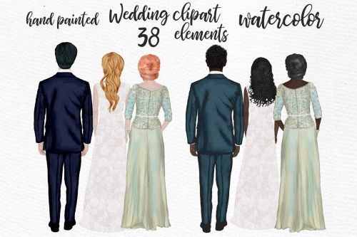 small resolution of wedding clipart wedding dress mother of the bride clipart example image 1