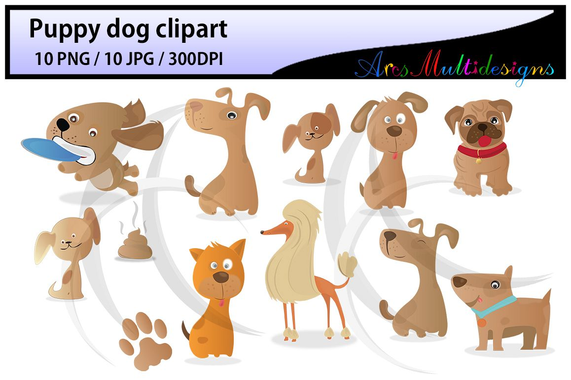 hight resolution of puppy dog clipart digital clip art for scrapbooking card making cupcake toppers paper crafts