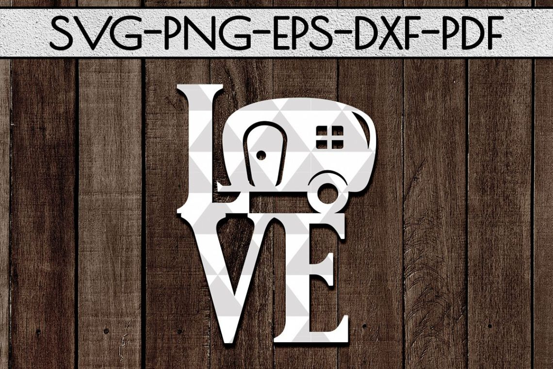 Download Love Camping Sign Papercut Template, Summer Camper SVG, PDF