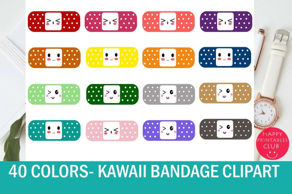 medium resolution of 40 kawaii bandage band aid clipart colorful bandaid clipart example image 1