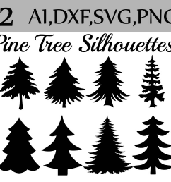 svg pine tree clipart example image 1 [ 1162 x 774 Pixel ]