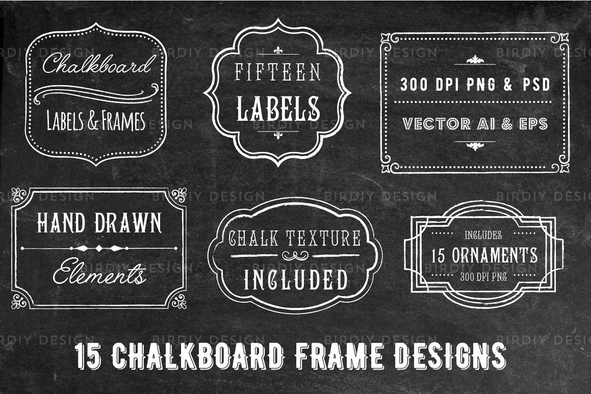 chalkboard frame and label