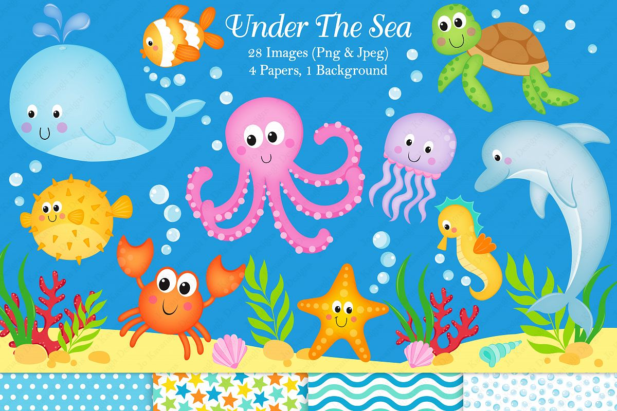 Under the sea clipart Under the sea graphics  illustration