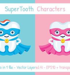 supertooth dentist superhero mascot clipart example image 1 [ 1158 x 772 Pixel ]