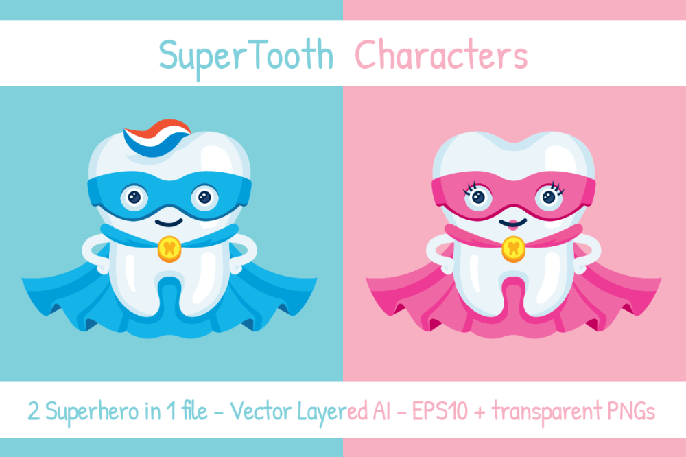 medium resolution of supertooth dentist superhero mascot clipart example image 1