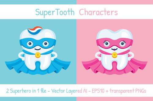 small resolution of supertooth dentist superhero mascot clipart example image 1