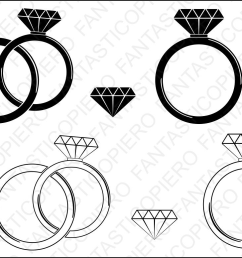 diamond ring svg cutting files for silhouette and cricut example image 1 [ 1164 x 776 Pixel ]