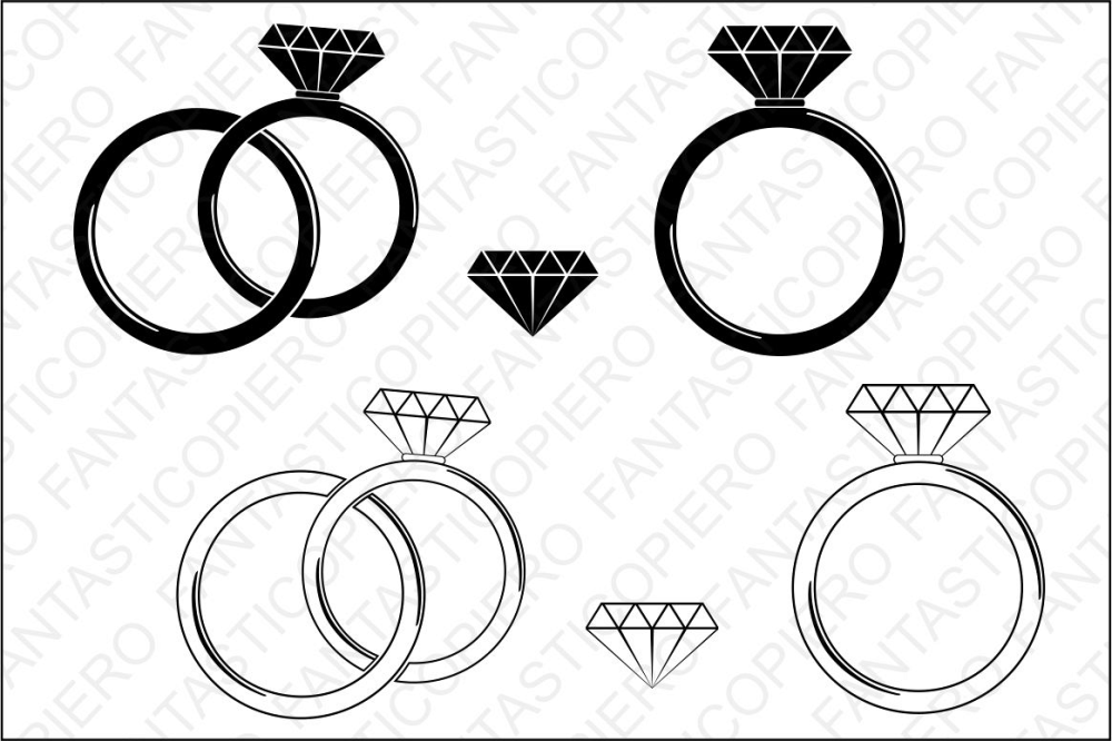 medium resolution of diamond ring svg cutting files for silhouette and cricut example image 1