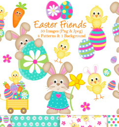 easter clipart easter bunny graphics illustrations example image 1 [ 1200 x 799 Pixel ]