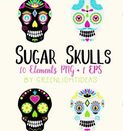 sugar skulls graphics day of the dead clipart halloween clipart halloween graphics example [ 1200 x 800 Pixel ]