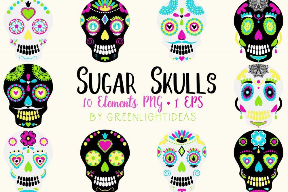 medium resolution of sugar skulls graphics day of the dead clipart halloween clipart halloween graphics example