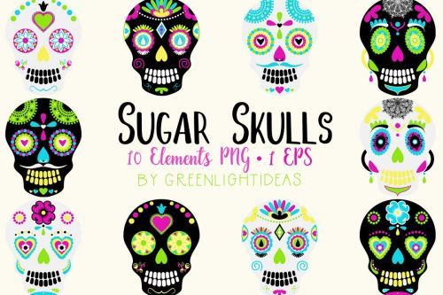 small resolution of sugar skulls graphics day of the dead clipart halloween clipart halloween graphics example
