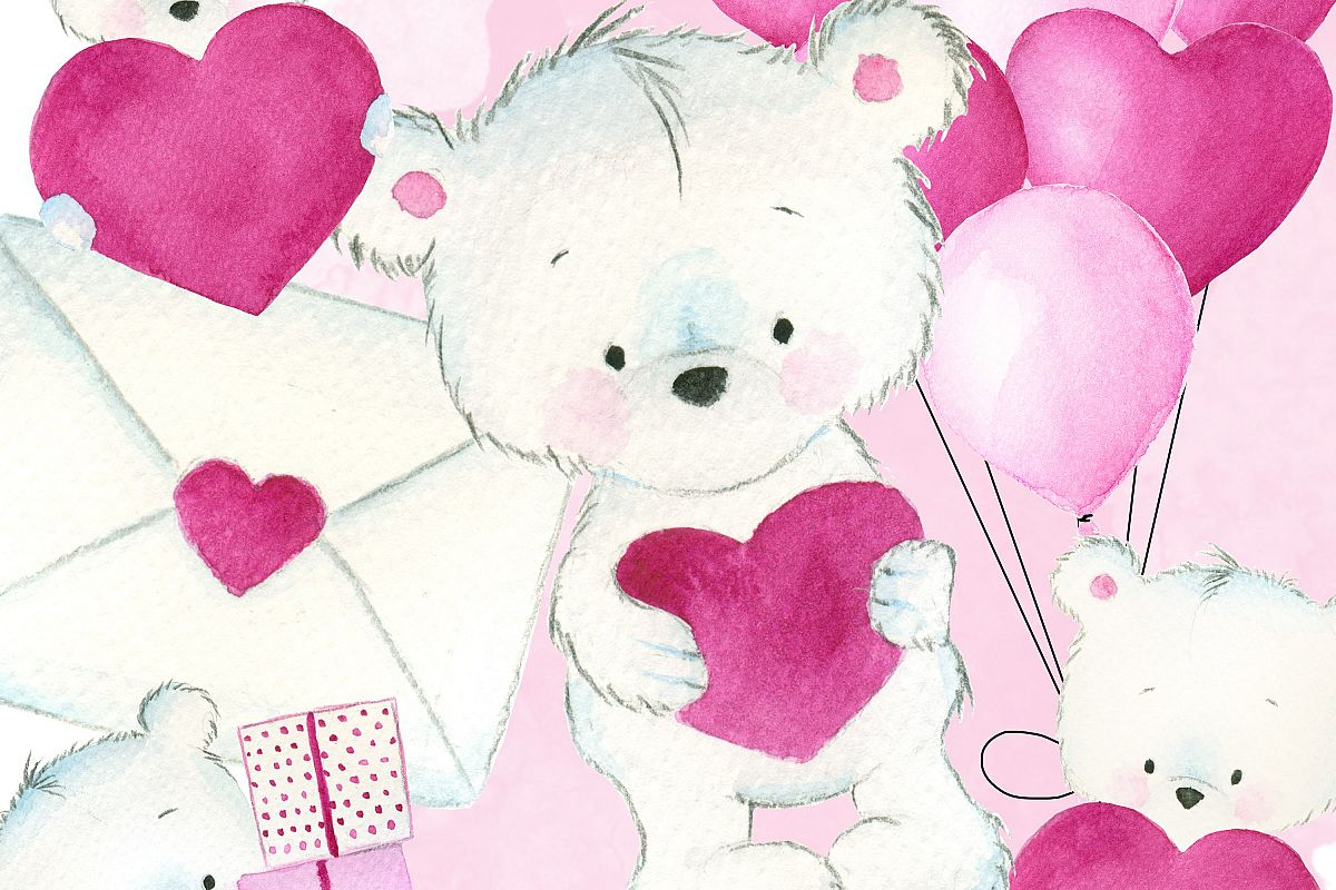 Cute Love Teddy Bear By Digital Designs Design Bundles