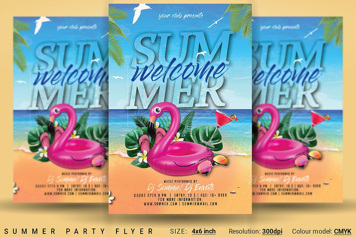 Summer Party Flyer Example Image
