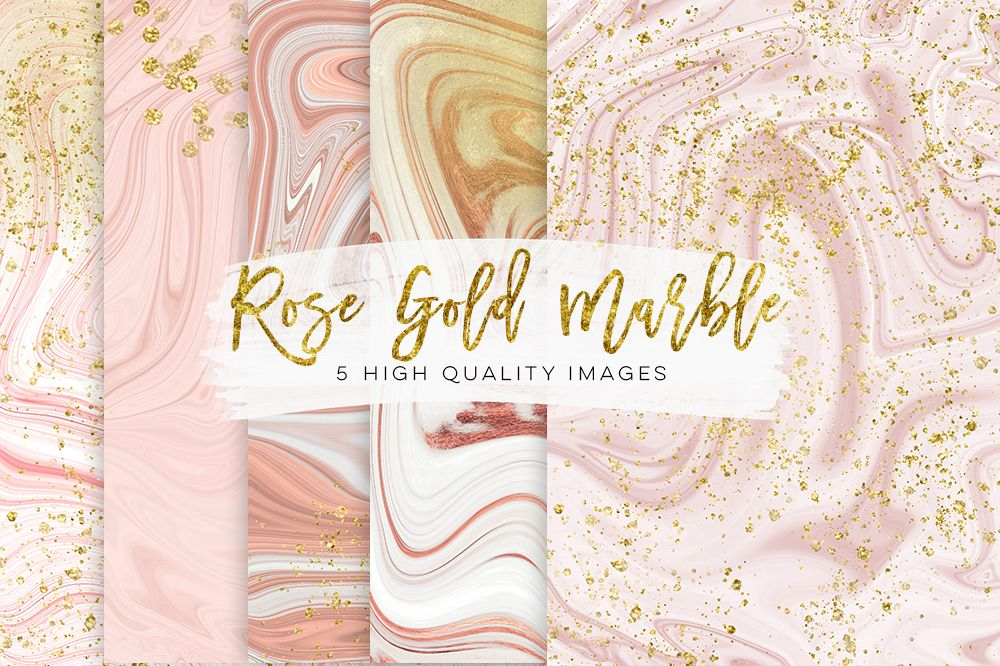 Gold and rose gold marble pink glitter marble glam rose gold planner paper gold printable