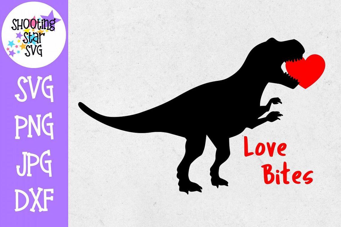 Download Love Bites Dinosaur - Valentine's Day SVG (261396)   Cut ...