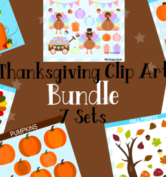 thanksgiving clipart graphics bundle illustrations clipart example image 1 [ 1158 x 772 Pixel ]