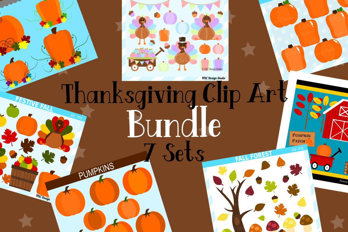 hight resolution of thanksgiving clipart graphics bundle illustrations clipart example image 1
