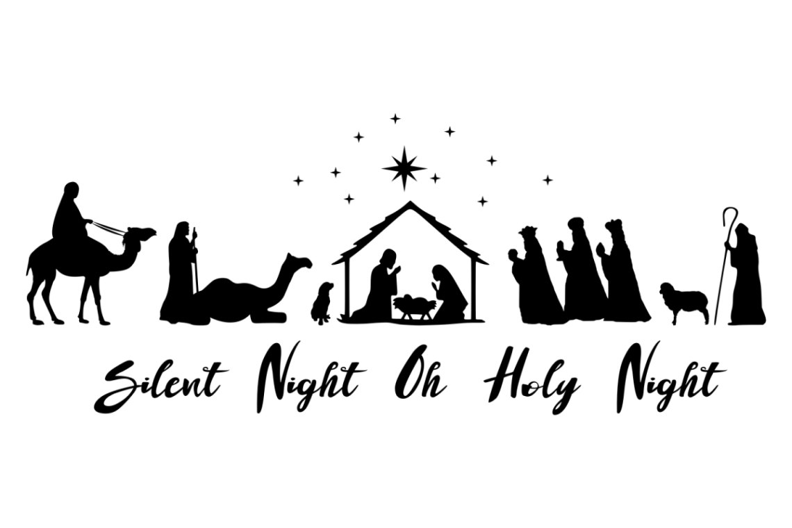 Download Nativity scene SVG Oh Holy Night sign (160384) | SVGs ...
