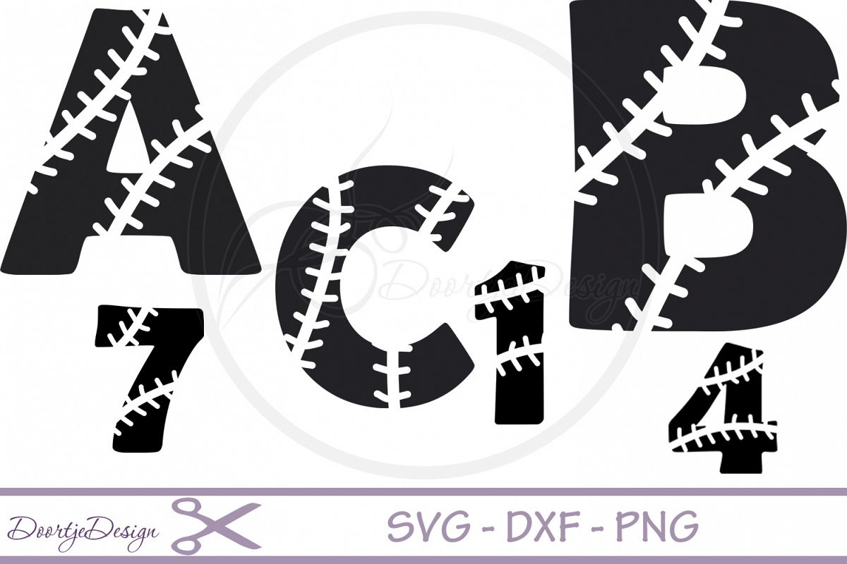 Baseball Alphabet svg files