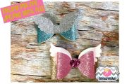 2 styles angel wing hair bow template