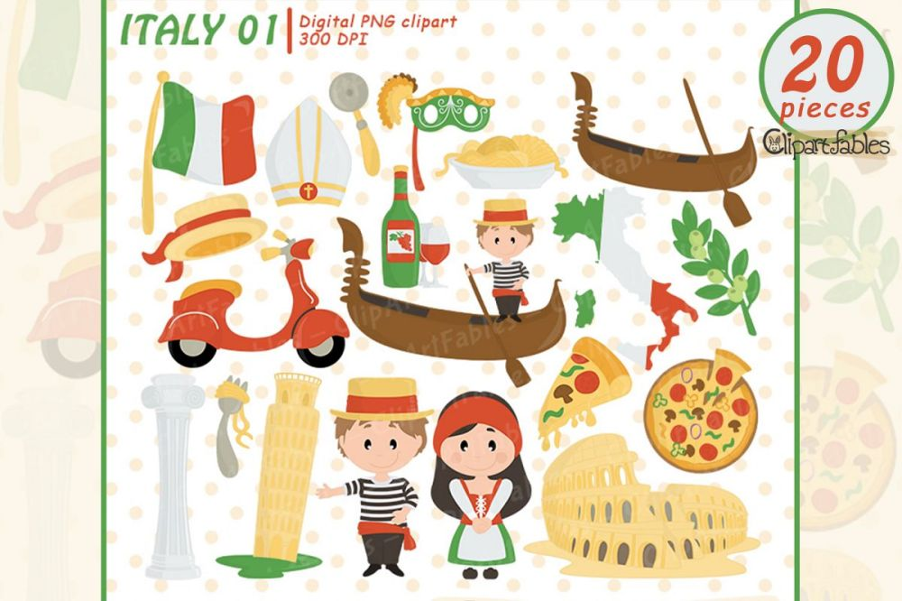 medium resolution of italy clipart rome clip art pizza pisa tower colosseum example image 1