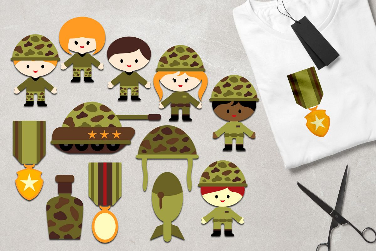 hight resolution of military clipart army kids soldier tank medals graphics example image 1
