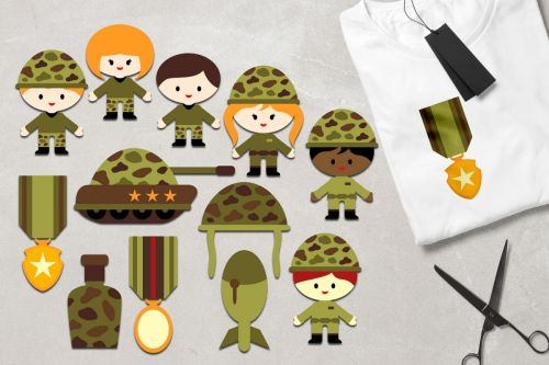 small resolution of military clipart army kids soldier tank medals graphics example image 1