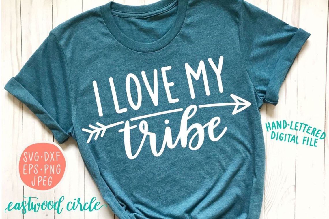 Download Hand Lettered - I Love My Tribe SVG