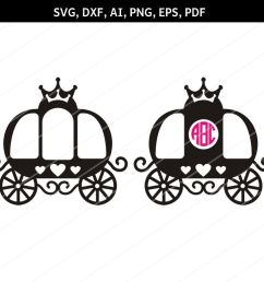 princess carriage svg carriage clipart svg files cricut dxf example image 1 [ 1158 x 772 Pixel ]