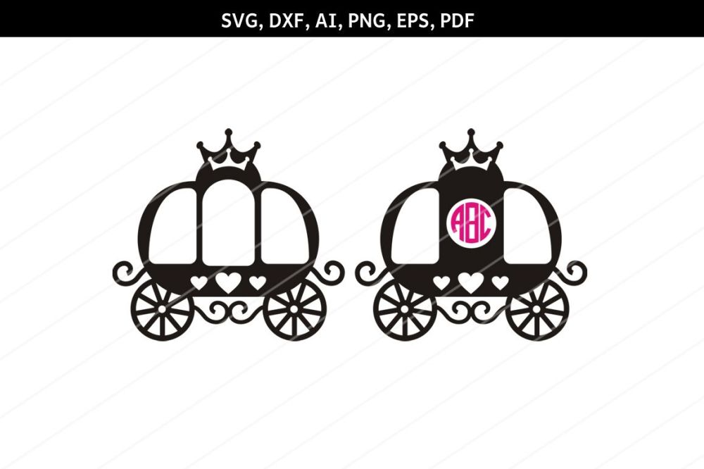 medium resolution of princess carriage svg carriage clipart svg files cricut dxf example image 1