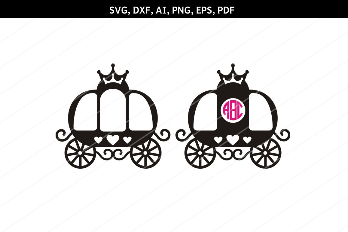 hight resolution of princess carriage svg carriage clipart svg files cricut dxf example image 1