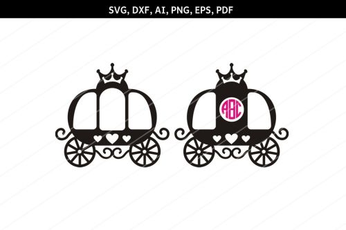 small resolution of princess carriage svg carriage clipart svg files cricut dxf example image 1