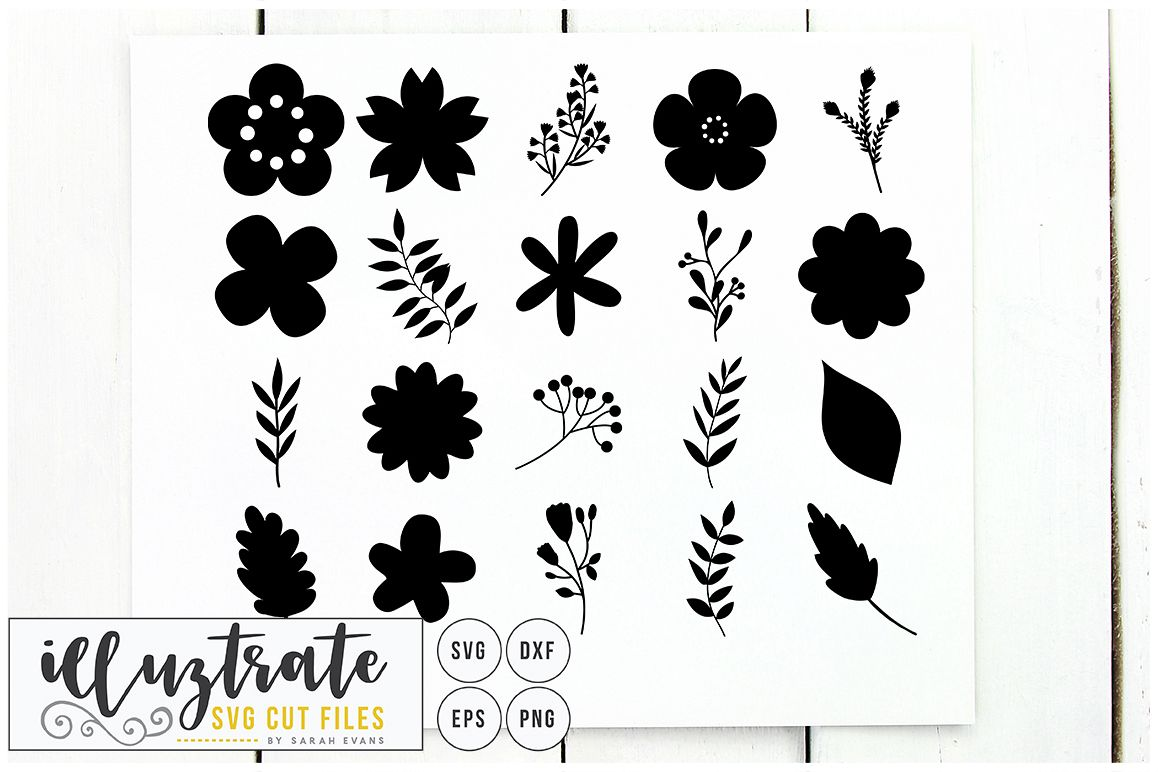 flowers svg cut file